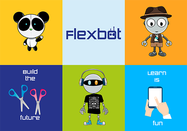 Flexbot poster 2 robótica educativa academias