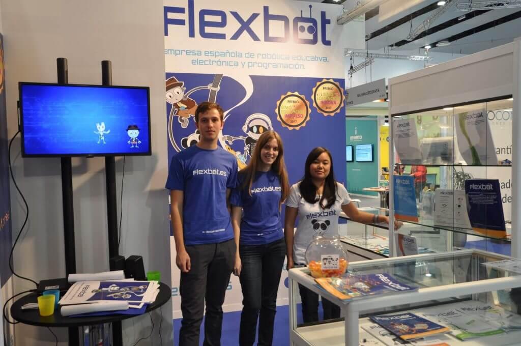 Stand Flexbot SIMOEDU18 eventos de robótica