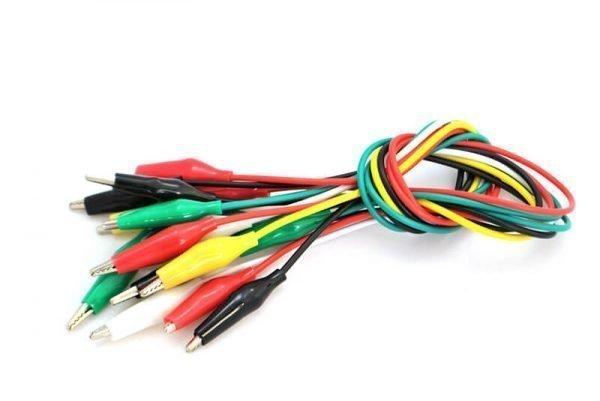 Cable con pinzas de cocodrilo