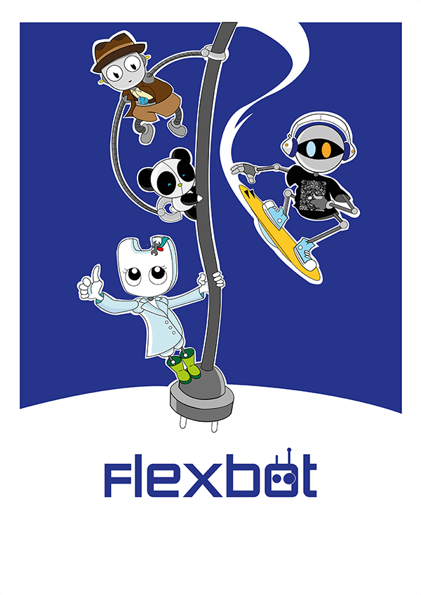 Poster descargable robots Flexbot