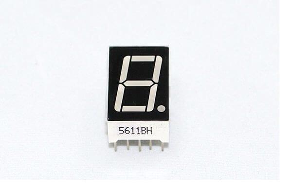 Display LED 1 dígito de 7 segmentos