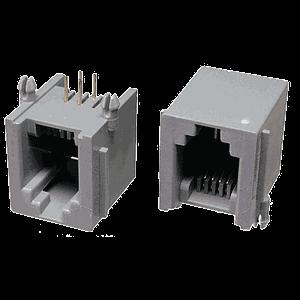 Conector hembra RJ11 recto