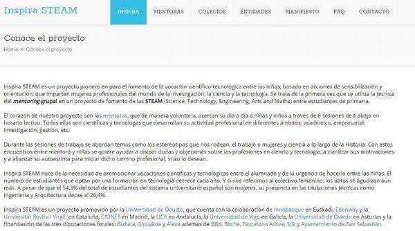 Web Proyecto Inspira STEAM